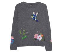 Bestickter Woll-Kaschmir-Pullover