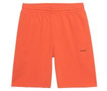 Bedruckte Shorts mit offenem Saum
