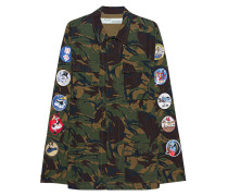 Camouflage Jacke mit Patches