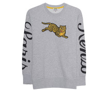 Sweatshirt mit Tiger-Applikation