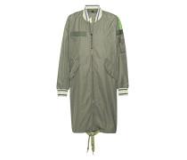 Langer Mantel im Bomberjacken-Stil
