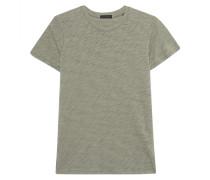 Meliertes T-Shirt mit Rundhalsausschnitt