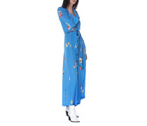 Gemustertes Maxi-Kleid aus Seide