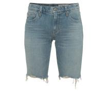 Jeans-Shorts mit offenem Saum