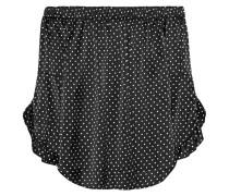 Gepunktete Off-Shoulder-Bluse