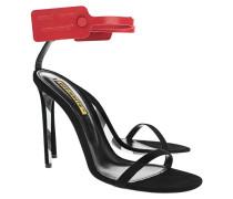 Leder-Sandalette mit Knöchelriemen