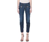 Jeans mit Zipper-Taschen