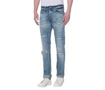 Slim-Fit Jeans im Destroyed Look