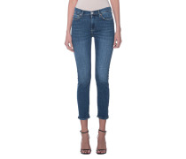 Gerade geschnittene High Waist Jeans