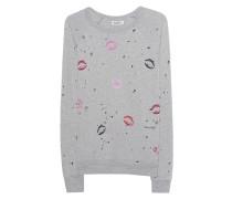 Destroyed-Sweatshirt mit Print