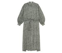 Gestreiftes Seiden-Kaftan-Kleid