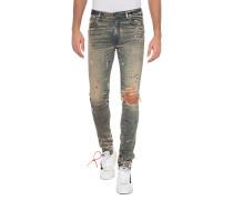 Destroyed Jeans mit Glitter-Finish
