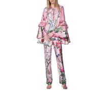 Seiden-Anzug im Pyjama-Style