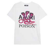 Bedrucktes T-Shirt mit Glitter-Finish
