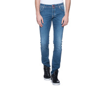 Slim-fit jeans in washed-out look