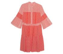 Lockeres Kleid mit Patchwork-Musterung