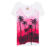 T-Shirt mit Palmen-Motiv