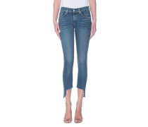 Knöchellange Skinny-Jeans mit Cut-Out