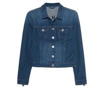 Jeansjacke mit Reißverschluss-Details