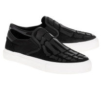 Sneakers mit Skelett-Details