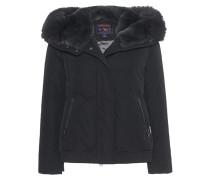 Daunen-Jacke mit Pelzbesatz