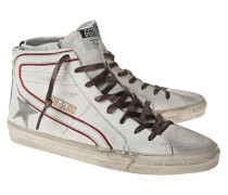 High-Top Sneaker aus Leder