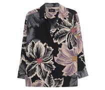 Gemusterte Seiden-Bluse