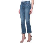 Kick-Flare Jeans mit Fransensaum
