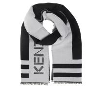 Woll-Schal mit Logo-Schriftzug