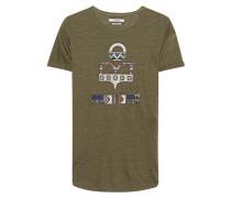 Leinen-T-Shirt mit Print