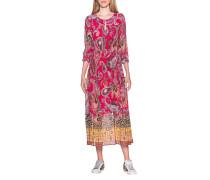 Gemustertes Kleid mit Taillenzug