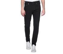 Jeans mit Reißverschluss-Detail