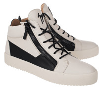 Leder-Sneakers mit Zipper
