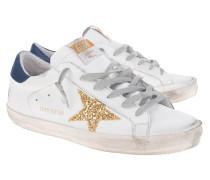 Leder-Sneaker mit Stern-Applikation