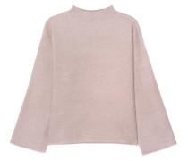 Kaschmir-Mix Pullover mit Zippern