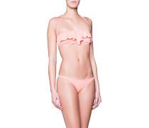 Bikini mit schulterfreiem Volanttop