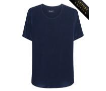 Kurzarm-T-Shirt aus schwerer Seide
