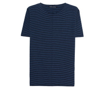 Gestreiftes Feinstrick-T-Shirt