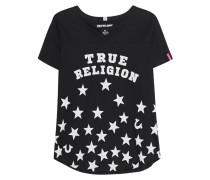 Bedrucktes T-Shirt mit Schlitz