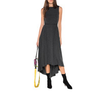 Kurzarm-Woll-Kleid mit Binde-Detail