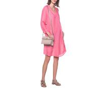Leinen-Kleid mit V-Ausschnitt