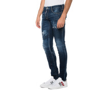 Destroyed-Slim-Fit Jeans