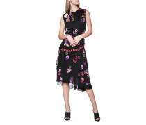 Kleid mit floralem Print und Rüschen-Detail