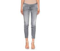Slim-Fit Jeans mit Farbklecksen