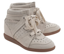 Leder-Wedge-Sneakers