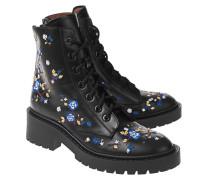 Bestickte Leder-Boots