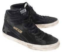 High-Top Veloursleder-Sneaker