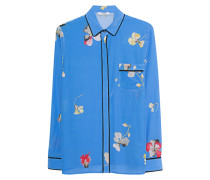 Florale Seiden-Bluse