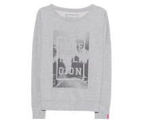 Sweatshirt mit Palmen-Motiv
