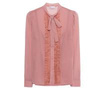 Schluppen-Bluse mit Rüschen